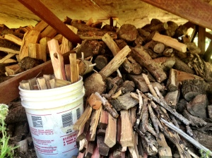 Yurt Wood Pile